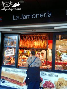 Jamoneria Spanish Class, Spanish Food, Teaching Spanish, Food Trucks, Consumerism, Teaching Ideas, Barcelona, Education, Shopping