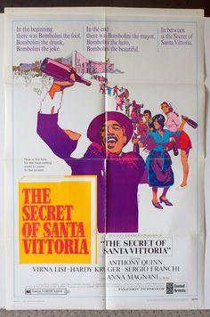 "Movie Poster  ""The Secret of Santa Vittoria""  Original 1969 Movie Poster - Anthony Quinn   RARE by MoviePostersAndMore on Etsy"