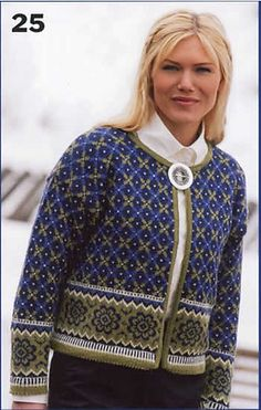 Ravelry: 0411-25 Patterned jacket pattern by Sandnes Design