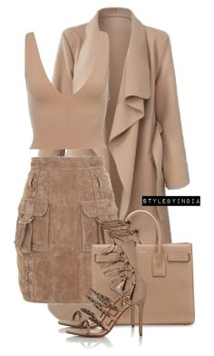 """""""Untitled #1673"""" by stylebyindia ❤ liked on Polyvore featuring Balmain, Yves Saint Laurent and Schutz"""