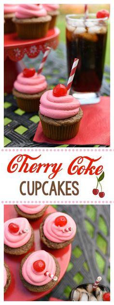 Cherry Coke Cupcake