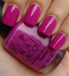 OPI Nail Polish Ate Berries in the Canaries; could possibly be my one and only nail color!