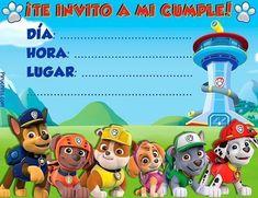 Invitación de cumpleaños Patrulla Canina gratis