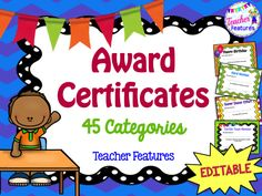 **90 EDITABLE Certificates**  Want to encourage positive behavior all through the year? This is the pack you need!