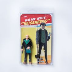 """I love that this is done in the Fisher Price """"Adventure People"""" style. Blister Packaging, Vintage Style, Vintage Fashion, Weird Toys, Pork Pie Hat, Fisher Price Toys, Heisenberg, Walter White, Custom Action Figures"""