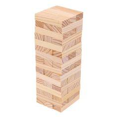Classic Jenga Tower Set 48 Pcs Jenga Tower, Steam Toys, Jenga Blocks, Engineering Toys, Jenga Game, Wood Sizes, Vintage Toys, Classic, Derby