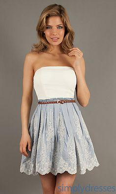 Short Strapless Casual Dress at SimplyDresses.com