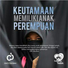Keutamaan memiliki anak perempuan Islam Hadith, Islam Muslim, Allah Islam, Doa Islam, Muslim Quotes, Religious Quotes, Islamic Inspirational Quotes, Islamic Quotes, True Quotes
