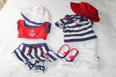 AG Bitty Twins Nautical Outfits