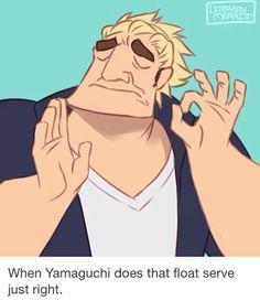 Image result for nishinoya missing yamaguchi serve