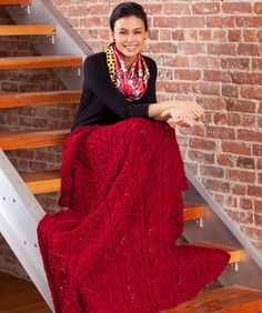 Fans and Cables Throw Knitting Pattern  #knit