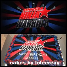 https://flic.kr/p/ePSFUa | American Ninja Warrior | American Ninja Warrior Cake. Made this cake for a contestant to competed on the show. This is all made with butter butter cream frosting.