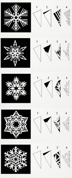 New origami christmas easy diy crafts 24 ideas Origami Design, Instruções Origami, Useful Origami, Paper Crafts Origami, Paper Snowflake Template, Paper Snowflake Patterns, Snowflake Origami, Snowflake Cutouts, Paper Snowflakes