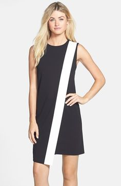 Donna Morgan Colorblock Asymmetrical Shift Dress available at #Nordstrom