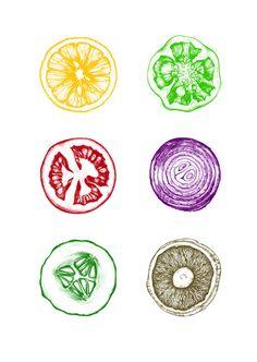 Trendy Ideas for fruit shop illustration kitchen art Vegetable Illustration, Fruit Illustration, Food Illustrations, Fruit Logo, Vegetable Prints, Fruit Shop, Kitchen Art, Paris Kitchen, Linocut Prints