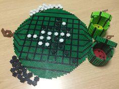 Othello watermelon board perler beads by Nagisa Oshida