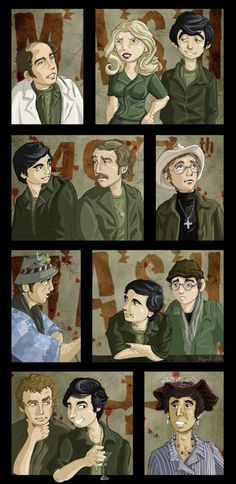 M*A*S*H 4077 art piece, portrayal of characters. This is so artistic!
