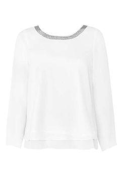 ec015e2bbd1e7 Petite Ivory Embellished Top - Tops - Clothing