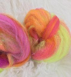 Spinning fiber Art Batt Batt Hand Carded Hand Blended