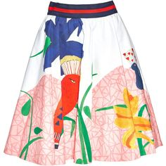 Alice + Olivia Earla Highwaist Flare Skirt ($350) ❤ liked on Polyvore featuring skirts, bottoms, skater skirt, alice olivia skirt, high-waist skirt, zip skirt and flare skirt