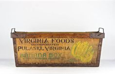 vintage banana box