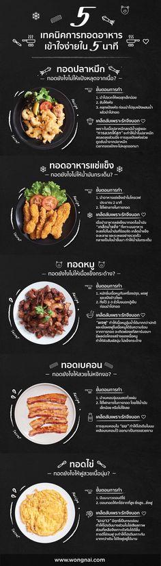 5 เทคนิคการทอด Clean Recipes, Cooking Recipes, Cooking Tips, Soup Recipes, Vegetarian Recipes, Thai Food Menu, Food Menu Design, Thai Street Food, Cafe Food