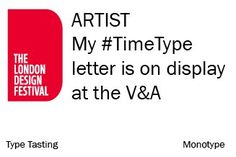 Type Tasting  Did you get one of these badges at the at the weekend? Please share the letter you created with London Design Festival, The V&a, Victoria And Albert Museum, Get One, Badges, Typography, Letters, Type, Letterpress