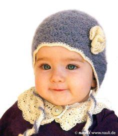 How sweet!! Kaschmir Babymütze in königsblau weiß 6-9 Monate made by nauli