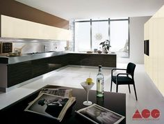 The modern bright Kitchen Charme design, bright, beautiful, with plenty of storage space.   #ArredoCasaGroup #MadeInItaly