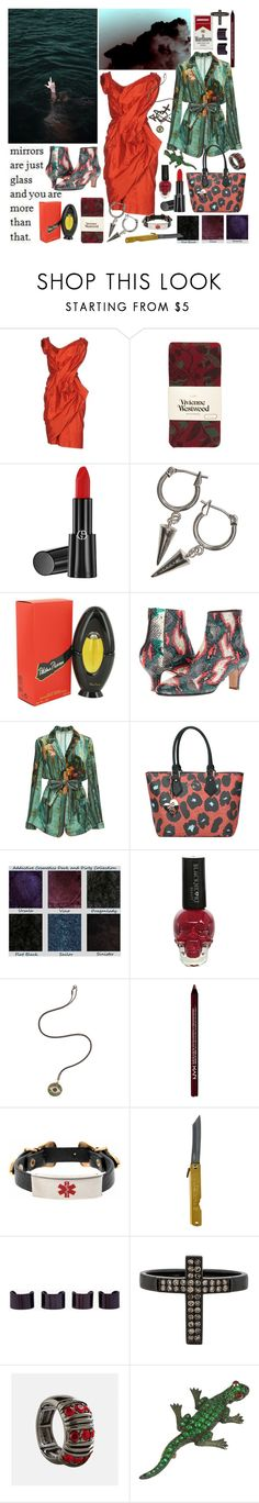 """""""promise, you will never loose yourself"""" by nothingisnormal ❤ liked on Polyvore featuring Vivienne Westwood, Giorgio Armani, GET LOST, H&M, Paloma Picasso, Rachel Comey, Alberta Ferretti, Vivienne Westwood Anglomania, Hot Topic and Ileana Makri"""