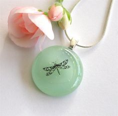 Dragonfly Fused Glass Pendant