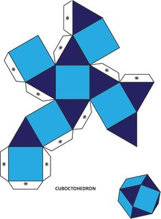 Best 12 Xplore & Xpress: Fun with Mathematics: The Archimedian solids 3d Geometric Shapes, Paper Box Template, Printable Shapes, Geometry Activities, Platonic Solid, Shape Templates, Paper Crafts Origami, Math Art, Paper Folding