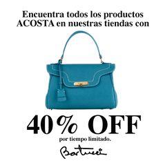 BUENAS NOTICIAS ¡Extendimos la promoción de carteras Acosta! Te esperamos en nuestras tiendas.