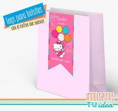 Hello Kitty - Hello Kitty tag bolsita para Imprimir