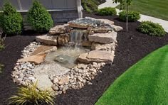 Love this waterfall pond