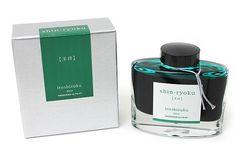 Pilot Iroshizuku Fountain Pen Ink - 50 ml Bottle - Shin-ryoku Deep Green (Deep Green) - PILOT INK-50-SHR