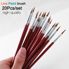 Sky Blue Plastic Multifunctional Nylon Paint Brushes Set Of 10