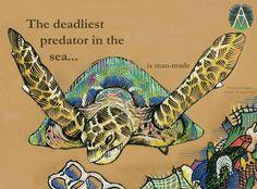 Sea turtles die every year from ocean pollution, ingestion or entanglement of marine debris.