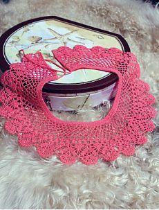 Скачайте схемы Розовый воротник, вид рукоделия Ажурное вязание - Валентина.ру