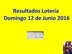 Resultados Sorteo Domingo 12 de Junio 2016 Loteria Nacional Panama