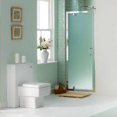 Buy V6 Frosted Glass Pivot Shower Door 800 in Pivot Shower Enclosures at MFI