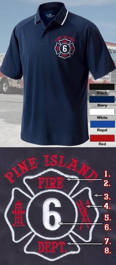 e8caf284a From classic polos, to moisture-wicking, to long sleeves, Fire Department  Clothing