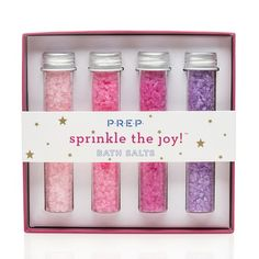 PREP Cosmetics debuts a best seller at Target this holiday season. These beautifully packaged, delicious smelling and soothing bath salts come in a set of 4 making it an easy, fun holiday gift for nearly everyone on your list. These trendy bath salts come in an ombre berry set as well as an ombre blue set.