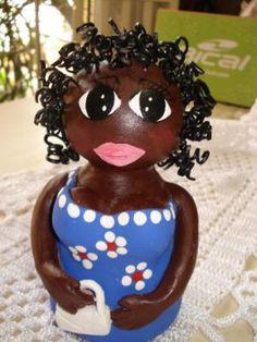 negrinhas do brasil boneca argila,, modelagem,