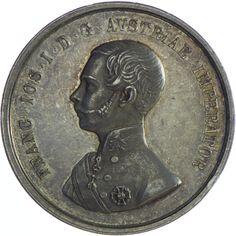 Franz Joseph I. 1848 - 1916 Pferdezuchtmedaille o. J. Silber ELTEN, von der österreichischen Regierung in Russisch Galizien für Verdienste um die Pferdezucht.