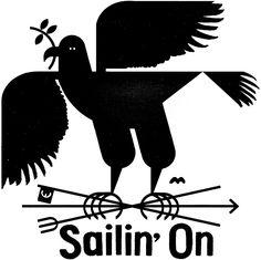 SAILIN' ON - Raymond Biesinger Illustration Inc.