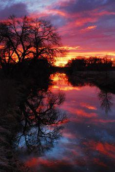 Sunrise at Cache La Poudre River (C) 2007   Portraits of Colorado price   Gary Peterson
