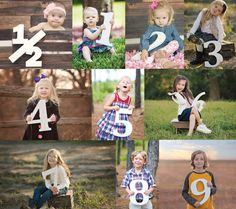 Etsy の Wooden Number Signs Photo Props for Children's by ZCDGifts