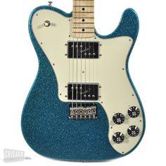 Fender FSR Classic Series '72 Telecaster Deluxe - Aqua Flake - Chicago Music Exchange