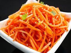 Russian korean carrot salad - recipe in Russian with YouTube video Морковь по-корейски (морковь-ча) видео рецепт